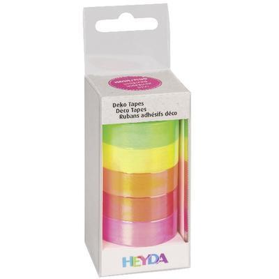 Papírová lepicí páska - neon, duhová - 2