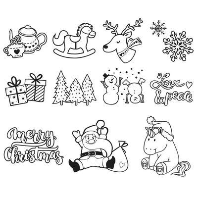HEYDA Sada razítek - motiv Vánoce, 11ks - 2