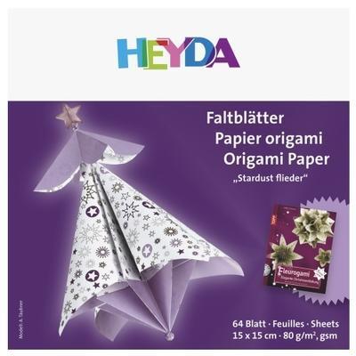 List Origami 80g/m2, 15x15cm - bílý/lila, 64ks   - 2