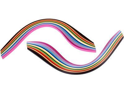 Proužky papírové pro Quilling - mix barev, 280ks - 2