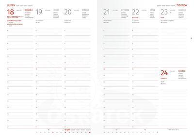Diář A5 týdenní na rok 2022, bílý s puntíky - 2