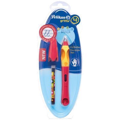 Pelikan Bombičkové pero Griffix 4 pro praváky - třešňové/oranžové - 2