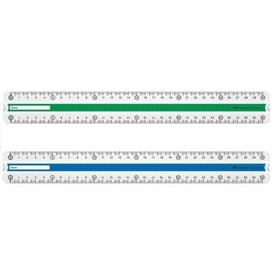 Faber-Castell Pravítko GRIP - 30 cm, zelené a modré - 2