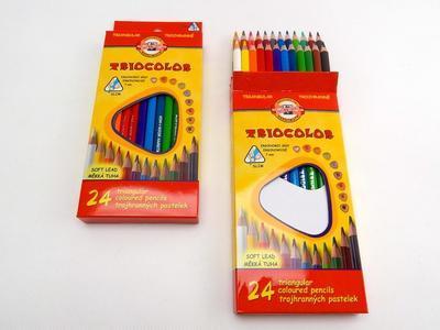 Trojhranné pastelky Triocolor tenké - 24 ks - 2
