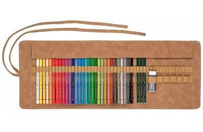 Faber-Castell Pastelky Polychromos 30 ks + příslušenství, rolovací pouzdro - 2