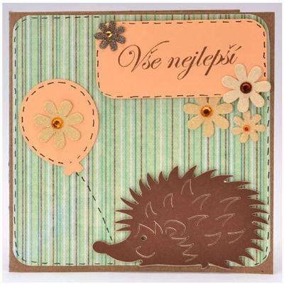 Výřez - Velký ježek, 12 ks - 2