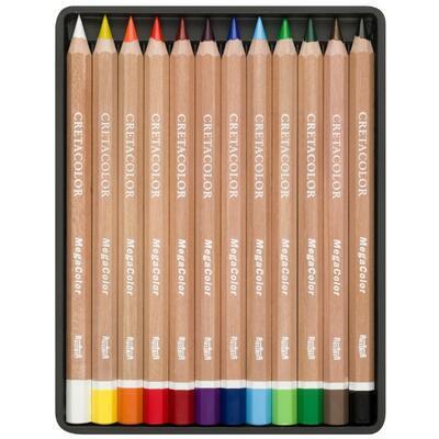 Sada permanentních barevných mega pastelek 12ks - 2