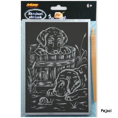 Škrabací obrázek - stříbrný A5 6+ - 2