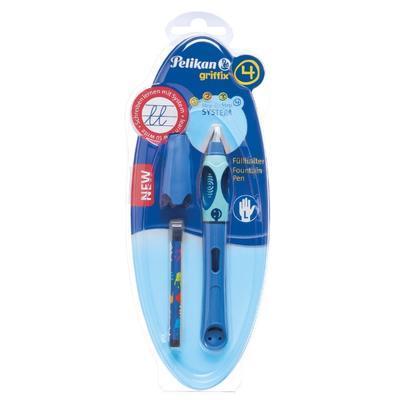 Pelikan Bombičkové pero Griffix 4 pro leváky - světle/tmavě modré - 2