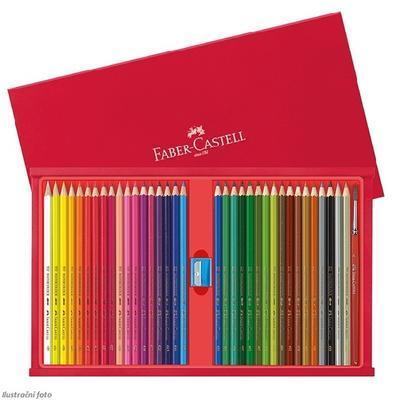 Faber-Castell Školní akvarelové pastelky - 35 ks s příslušenstvím v dřevěné kazetě - 2