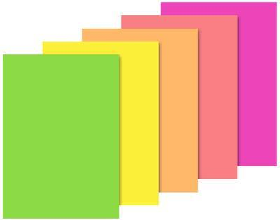 Blok barevných papírů, A4, 10 listů / neon - 2