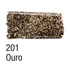Acrilex Barva na textil 37ml - glitrová zlatá 201 - 2