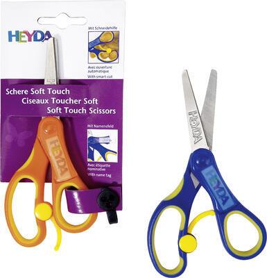 """Dětské nůžky kulaté Soft Touch - pro """"R"""" /mix barev - 2"""
