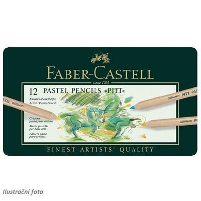Faber-Castell Pastelky PITT PASTEL - 12 ks v kovové etui - 2
