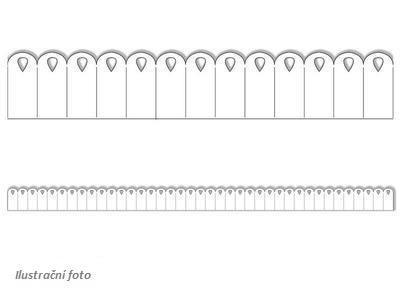Výřez - Skládané rozety 5, malé, bílá, 8 ks - 2