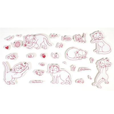StampoTextile, Razítka na textil - Kočky - 2