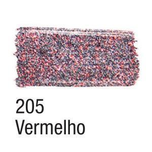 Acrilex Barva na textil 37ml - glitrová červená 205 - 2