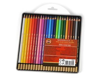 Mondeluz Akvarelové pastelky - 24ks - 2