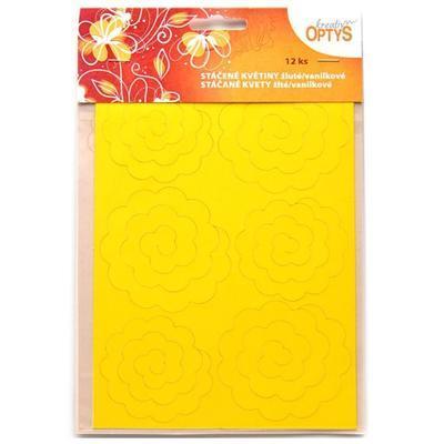Výřez  Stáčené květiny - žlutá/vanilková - 2