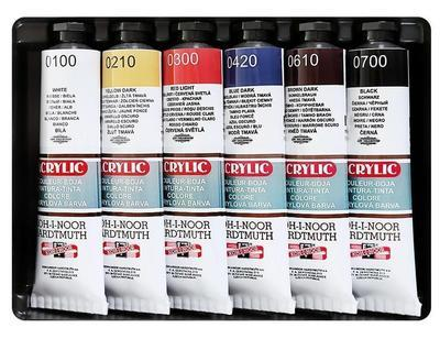 Souprava akrylových barev - 6x40ml - 2