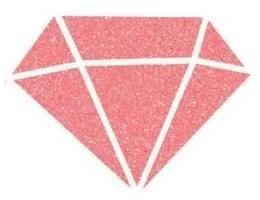 Diamantová barva 80ml - korálová/ corail - 2