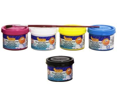 Jovi Temperové barvy 5 x 35 ml v kelímku + štětec - 2