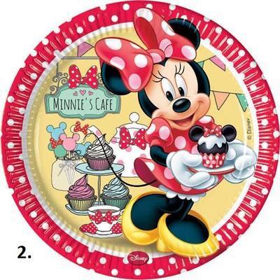 Papírové talíře 23 cm, 8 ks - Minnie's Cafe 23  - 2