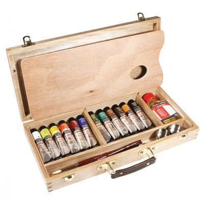 Daler&Rowney Georgian Oil Umělecká sada olej barev v dřevěné kazetě - 2