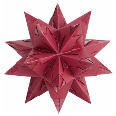 Folia Origami Hvězda Bascetta Elegance - červená, 32 archů 9,5x9,5cm - 2