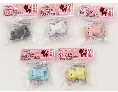 Gumovací figurky 1ks/bal - kočka/ různé - 2