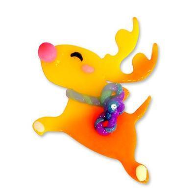 Think Doh Silikonová modelína měnící barvu - oranž/žlutá - 2