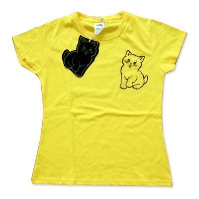 Samolepka na textil zažehlovací sametová  10x30 cm - CHATS  kočky - 2