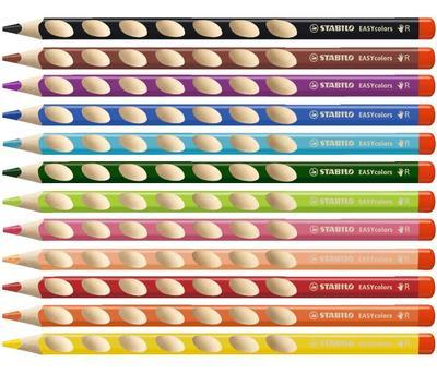 Stabilo EASYcolors 332/345 Pastelka pro praváky - červenofialová  - 2