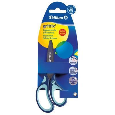 """Nůžky dětské ergonomické Griffix """"R"""" s kulatou špičkou - modré - 2"""