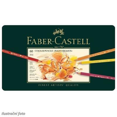 Faber-Castell Pastelky Polychromos - 60 ks v kovové etui - 2