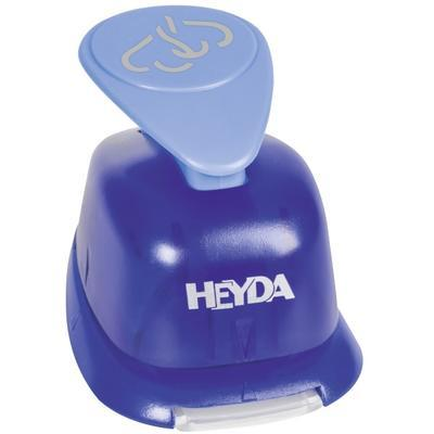 HEYDA Děrovač (raznice) modrý 22 mm - Dvě srdce - 2