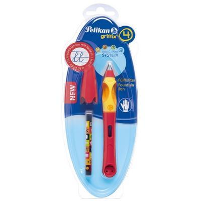 Pelikan Bombičkové pero Griffix 4 pro leváky - třešňové/oranžové - 2