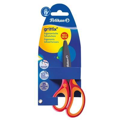 """Nůžky dětské ergonomické Griffix """"L"""" s kulatou špičkou - červené - 2"""