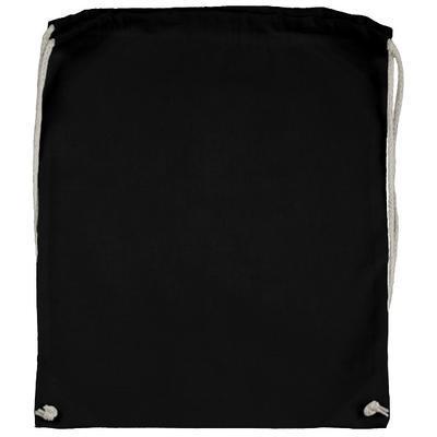 Bavlněný batoh 140 g/m2, 37x48 cm - černý - 2