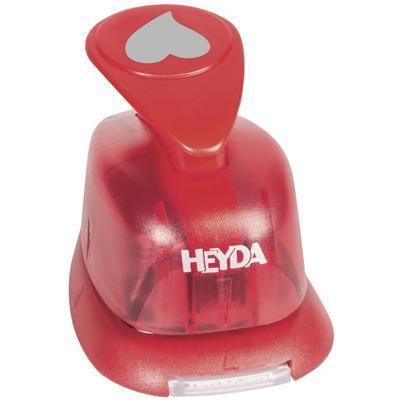 HEYDA Děrovač červený 15 mm - Srdíčko - 2