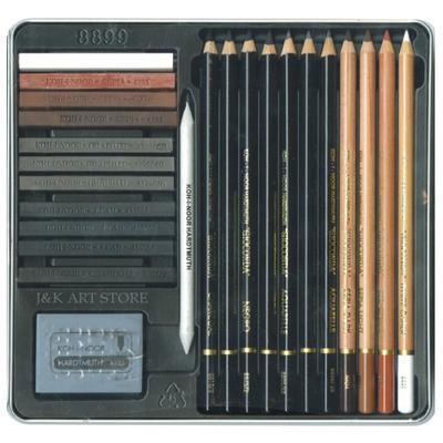 Gioconda Art set Kreslířská sada - 24 ks v kovové kazetě - 2