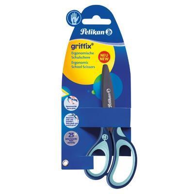"""Nůžky dětské ergonomické Griffix """"L"""" s kulatou špičkou - modré - 2"""