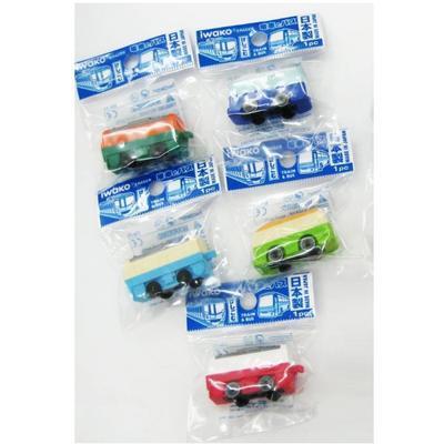 Gumovací figurky 1ks/bal - vlak a autobus/ různé - 2