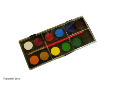 Faber-Castell Vodové barvy - 12 ks + štěteček, 24 mm - 2