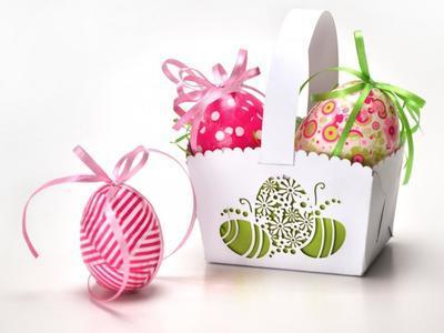 Výřez - Velikonoční košíček malý - 2