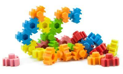 Guma figurky 36ks / blister - hexagon puzzle - 2