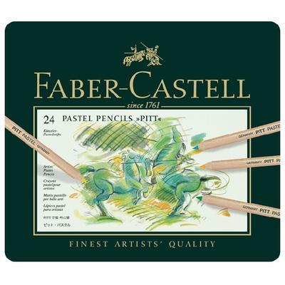 Faber-Castell Pastelky PITT PASTEL - 24 ks v kovové etui - 2