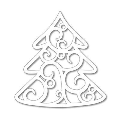 Výřez pro čoko kolečko - filigrán Stromek, 5ks - 2