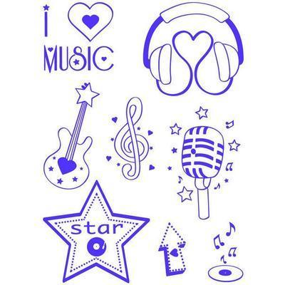 Stampo T-shirt Sada razítek - Hudba - 2