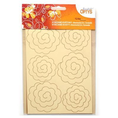 Výřez  Stáčené květiny - chamois/světle hnědé - 2
